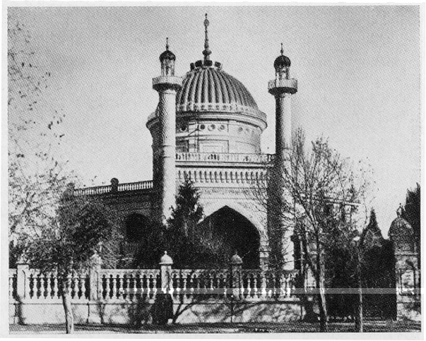 Photo of the House of Worship when it was still standing